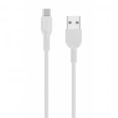Cablu Date si Incarcare USB la USB Type-C HOCO Flash X20 3m Alb Blister Original
