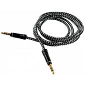 Cablu audio Jack 3.5 mm Tata - Tata Tellur Basis, TRS - TRS, 1m, Negru