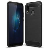 Husa TPU OEM Carbon Pentru Huawei P20 Lite, Neagra, Bulk