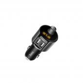 Emitator FM Bluetooth si MP3 Player AUTO cu buton Apel si 2 x USB HOCO Smart E19 Negru