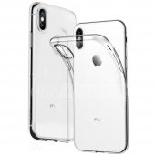 Husa TPU OEM pentru Apple iPhone X, Transparenta, Bulk