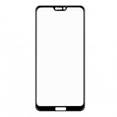 Folie Protectie Ecran Enkay 3D Carbon pentru Huawei P20 Lite, Sticla securizata, Full Face, Neagra