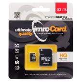 Card Memorie MicroSDHC Imro cu adaptor, 32Gb, Clasa 10 - UHS-1 U1, Blister