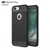 Husa TPU OEM Carbon pentru Apple iPhone 7 Plus / Apple iPhone 8 Plus, Neagra, Bulk