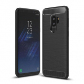 Husa TPU OEM Carbon pentru Samsung Galaxy S9+ G965, Neagra, Bulk