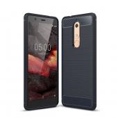 Husa TPU OEM Carbon pentru Nokia 5.1, Bleumarin, Bulk