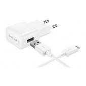 Incarcator Retea cu cablu MicroUSB Samsung ETAOU83EWE + ECB-DU4AWE, 1 X USB, Alb, Bulk