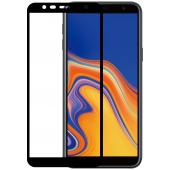 Folie Protectie Ecran WZK pentru Samsung J4 Plus (2018) J415, Sticla securizata, Full Face, Full Glue, Neagra