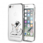 Husa Plastic Karl Lagerfeld Choupette Fun Dog pentru Apple iPhone 7 / Apple iPhone 8 / Apple iPhone SE (2020), Transparenta, Blister KLHCI8CFNRC