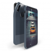 Husa TPU DUX DUCIS MOJO Carbon Magnetic Apple iPhone X / Apple iPhone XS, Bleumarin, Blister