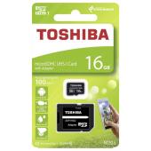 Card Memorie MicroSDHC Toshiba M203. Cu adaptor, 16Gb, Clasa 10 - UHS-1 U1, Blister