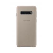 Husa Piele Samsung Galaxy S10 G973, Leather Cover, Bej, Blister EF-VG973LJEGWW