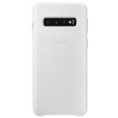 Husa Piele Samsung Galaxy S10 G973, Leather Cover, Alba EF-VG973LWEGWW