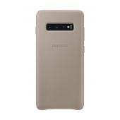 Husa Piele Samsung Galaxy S10+ G975, Leather Cover, Bej, Blister EF-VG975LJEGWW