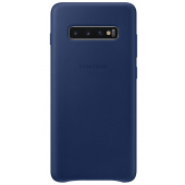 Husa Piele Samsung Galaxy S10+ G975, Leather Cover, Bleumarin, Blister EF-VG975LNEGWW