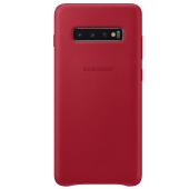 Husa Piele Samsung Galaxy S10+ G975, Leather Cover, Rosie, Blister EF-VG975LREGWW