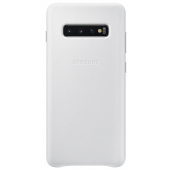 Husa Piele Samsung Galaxy S10+ G975, Leather Cover, Alba, Blister EF-VG975LWEGWW