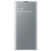 Husa Plastic Samsung Galaxy S10+ G975, Clear View, Alba, Blister EF-ZG975CWEGWW