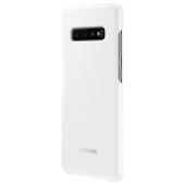 Husa Samsung Galaxy S10+ G975, LED Cover, Alba, Blister EF-KG975CWEGWW