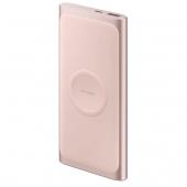 Baterie Externa Powerbank Samsung EB-U1200, 10000 mA, 1 x USB,  Cu incarcare Wireless, Roz, Blister EB-U1200CPEGWW