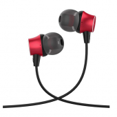 Handsfree Casti In-Ear HOCO M51, Cu microfon, 3.5 mm, Rosu, Blister