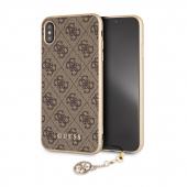 Husa TPU Guess 4G Charms Collection pentru Apple iPhone XS Max, Maro GUHCI65GF4GBR