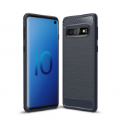 Husa TPU OEM Carbon pentru Samsung Galaxy S10 G973, Bleumarin