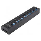Hub Usb 7 porturi USB 3.0 OEM, Negru