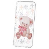 Husa TPU OEM Bear pentru Huawei Y9 (2019), Transparenta, Bulk