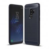 Husa TPU OEM Carbon pentru Samsung Galaxy S9+ G965, Bleumarin