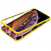 Husa Plastic Nillkin Ombre cu spate din sticla pentru Apple iPhone XS Max, Galbena