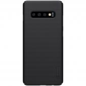 Husa Plastic Nillkin Frosted pentru Samsung Galaxy S10 G973, Neagra, Blister