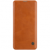 Husa Piele Nillkin Qin Book pentru Samsung Galaxy S10 G973, Maro, Blister