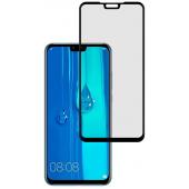 Folie Protectie Ecran Tellur pentru Huawei Y9 (2019), Sticla securizata, Full Face, Full Glue, 2.5D, Neagra, Blister TLL145395