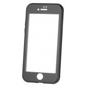 Husa Aluminiu OEM cu protectie full din sticla securizata pentru Apple iPhone XR, Neagra, Bulk