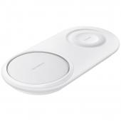 Incarcator Retea Wireless Samsung Fast Charge Duo Pad, Alb, Blister EP-P5200TWEGWW