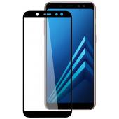 Folie Protectie Ecran Blueline pentru Samsung Galaxy A6 (2018) A600, Sticla securizata, Full Face, Full Glue, Neagra, Blister