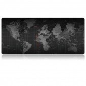Mousepad World Map, 70 x 30 cm, negru