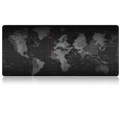 Mousepad World Map, 70 x 30 cm, negru