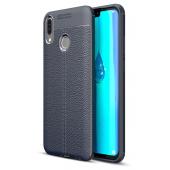 Husa TPU OEM Litchi pentru Huawei Y9 (2019), Bleumarin, Bulk