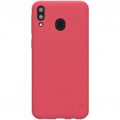 Husa Plastic Nillkin Super Frosted pentru Samsung Galaxy M20, Rosie, Blister