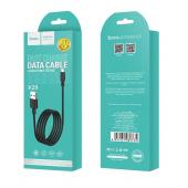 Cablu Date si Incarcare USB la MicroUSB HOCO Superior X29, 1 m, Negru
