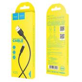 Cablu Date si Incarcare USB la Lightning HOCO Soarer X25, 1 m, Negru
