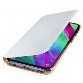 Husa Textil Samsung  Galaxy A40 A405, Wallet, Alba, Blister EF-EF-WA405PWEGWW