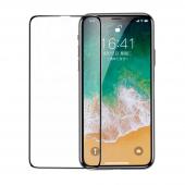 Folie Protectie Ecran Baseus pentru Apple iPhone X / Apple iPhone XS, Sticla securizata, Full Face, Full Glue, Neagra, Blister SGAPIPHX-KC01