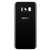 Capac Baterie Negru cu geam camera / blitz, Swap Samsung Galaxy S8 G950