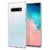 Husa TPU Spigen Liquid Crystal Glitter pentru Samsung Galaxy S10+ G975, Transparenta, Blister 606CS25762
