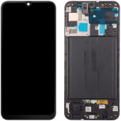Display - Touchscreen Samsung Galaxy A50 A505, Cu Rama, Negru GH82-19204A