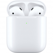 Handsfree Casti Bluetooth Apple Airpods 2, cu incarcare Wireless, Alb, Blister MRXJ2ZM/A