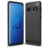 Husa TPU OEM Carbon pentru Samsung Galaxy A40 A405, Neagra, Bulk